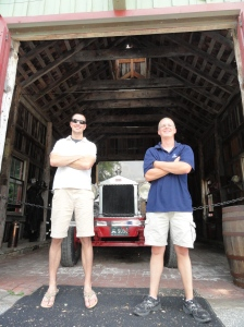 Maker's Mark - two firemen in front of the fire truck.