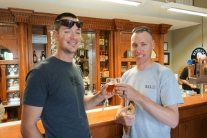 Todd & Jerod sample some of the beers offered at Town Branch.